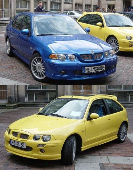 Te modele zaprezentowano pod Ministerstwem Gospodarki: MG ZS oraz MG ZR (kliknij) /fot. Witold Blady