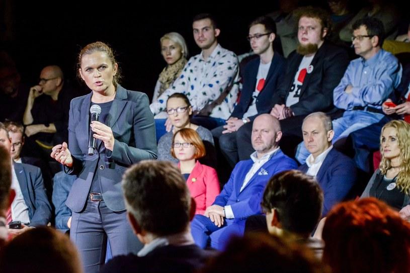 """Teatr Palladium; Debata środowisk lewicowych """"Nasza Przyszłość"""" zorganizowana przez Barbarę Nowacka /Mariusz Gaczyński /East News"""