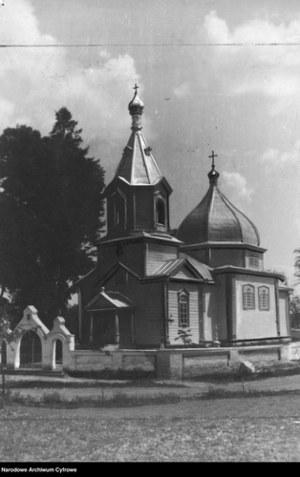 """""""Teatrem zmagań był Wołyń"""", na zdjęciu cerkiew na Wołyniu /Z archiwum Narodowego Archiwum Cyfrowego"""