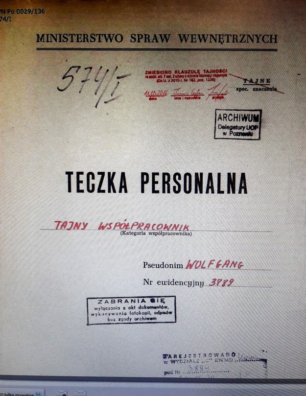 Teczka TW Wolfgang /PAP