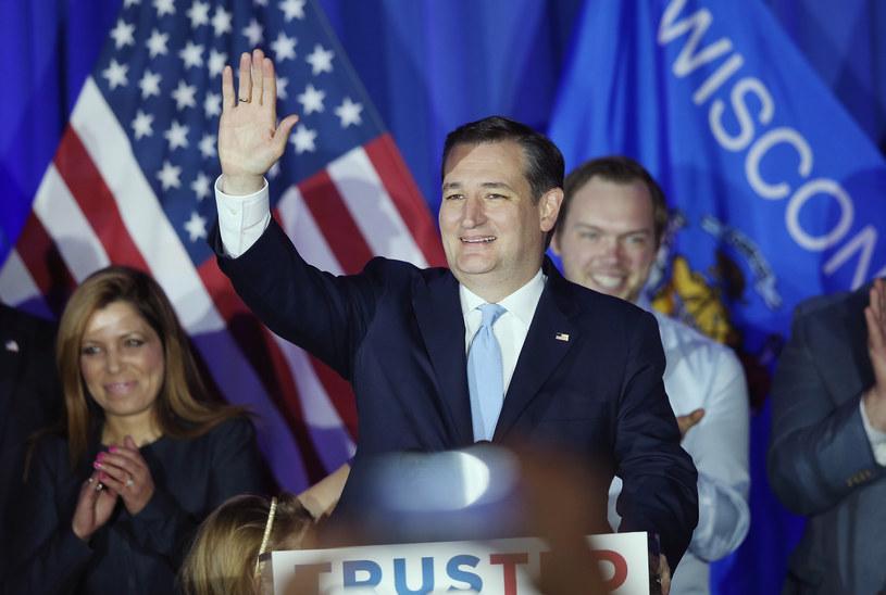Ted Cruz wygrał prawybory GOP w stanie Wisconsin /AFP
