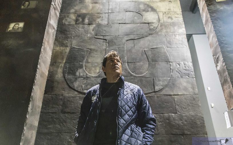 Ted Nolan w Muzeum Powstania Warszawskiego. /