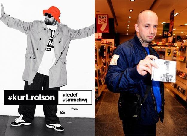 """Tede na okładce """"#kurt_rolson"""" (po lewej) oraz Peja (po prawej) fot. Maciej Gilter /East News"""