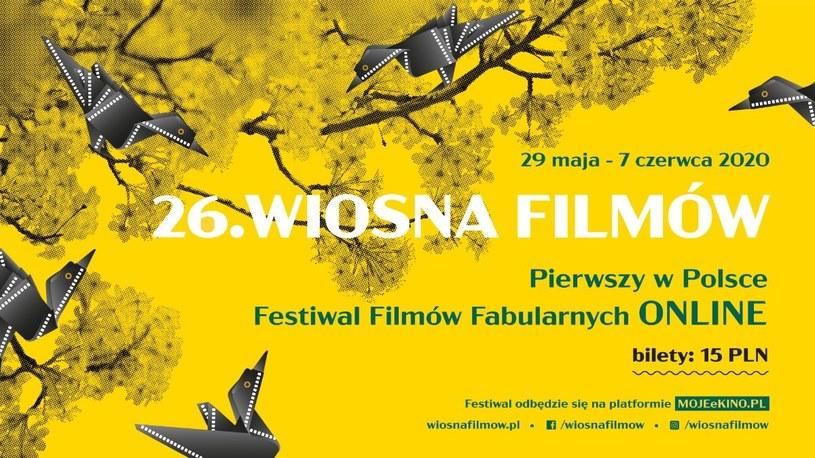 Tegoroczna edycja Wiosny Filmów odbędzie się online /materiały prasowe