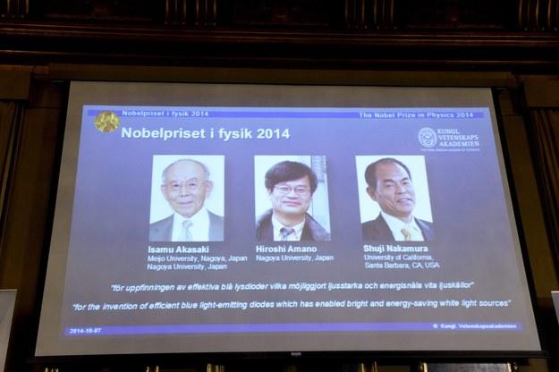 Tegoroczni laureaci Nagrody Nobla z dziedziny fizyki /Bertil Ericson /PAP/EPA