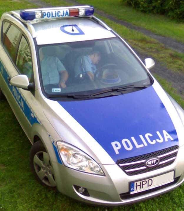 Tej policyjnej załodze udało się uniknąć kary /Fot. Lucky /poboczem.pl