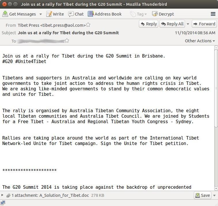 Tekst maila z zainfekowanym załącznikiem. /materiały prasowe