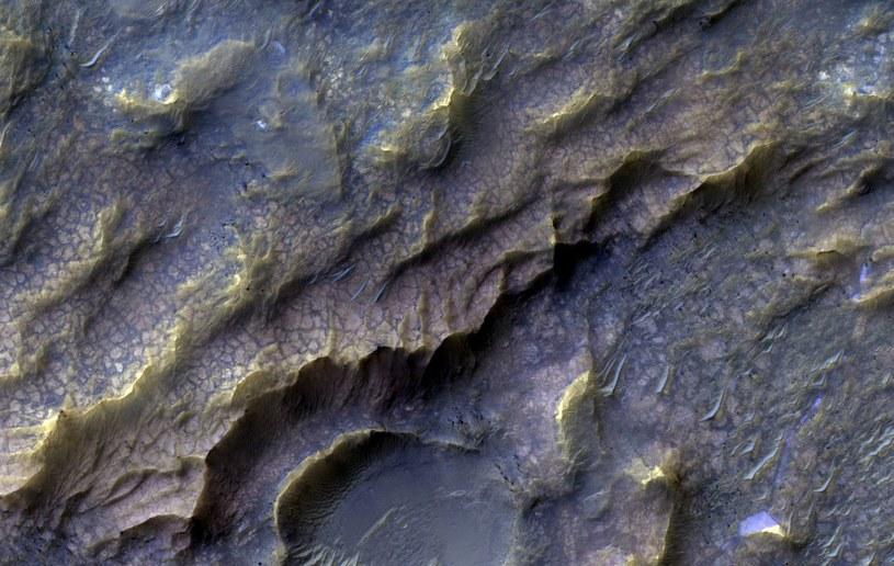 Tekstura wygląda w sposób, w jaki większość osób wyobraża sobie skórę smoka /NASA