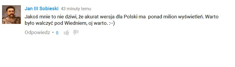 Teledysk skomentował sam król Jan III Sobieski /David Guetta /YouTube