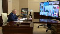 Telekonferencja Putina dot. szybkiego rozprzestrzeniania się koronawirusa typu Delta w Rosji