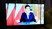 Telewizja Polska powtórzyła orędzie Beaty Szydło