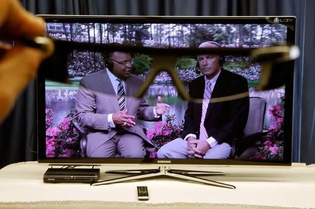 Telewizja w technologii 3D nie prędko stanie się w Polsce powszechna /AFP