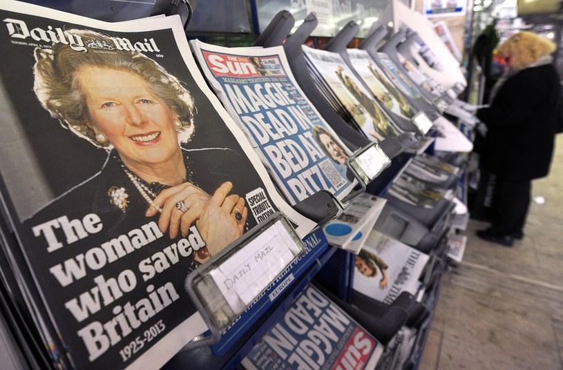 Telewizje pomyliły zdjęcia Thatcher /AFP
