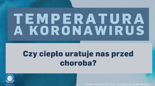 Temperatura a koronawirus. Fakty i mity /Global Compact Network Poland  /