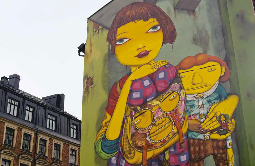 Ten mural na tyłach Mosebacke torg mogła widzieć ze swojego okna Lisbeth Salander, fot. Katarzyna Tubylewicz /materiały prasowe