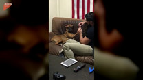 Ten pies uwielbia zabiegi pielęgnacyjne