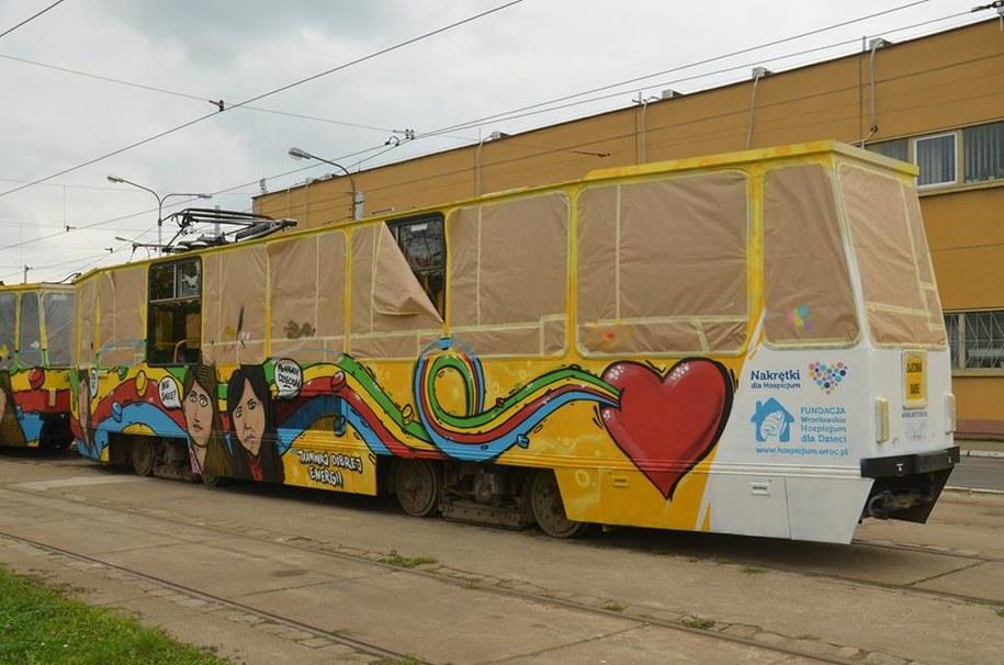 Ten tramwaj promuje akcję. /Barbara Zielińska - Mordarska /RMF FM