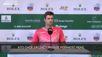 Tenis. Dziennikarze nie mieli pytań do Huberta Hurkacza. Wideo