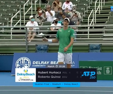 Tenis. Hubert Hurkacz - Roberto Quiroz 6:4, 6:4. Skrót meczu (POLSAT SPORT). Wideo
