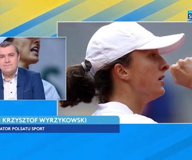 Tenis. Krzysztof Wyrzykowski skomentował sukces Świątek (POLSAT SPORT). Wideo