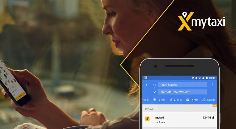 Teraz mytaxi można zamówić przez aplikację Google Maps /materiały prasowe
