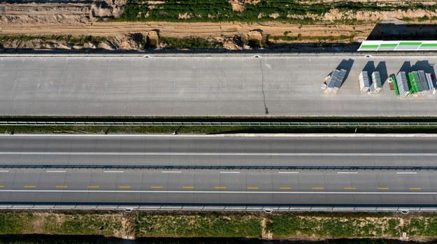 Teren budowy autostrady A1 /Grzegorz Michałowski   /PAP
