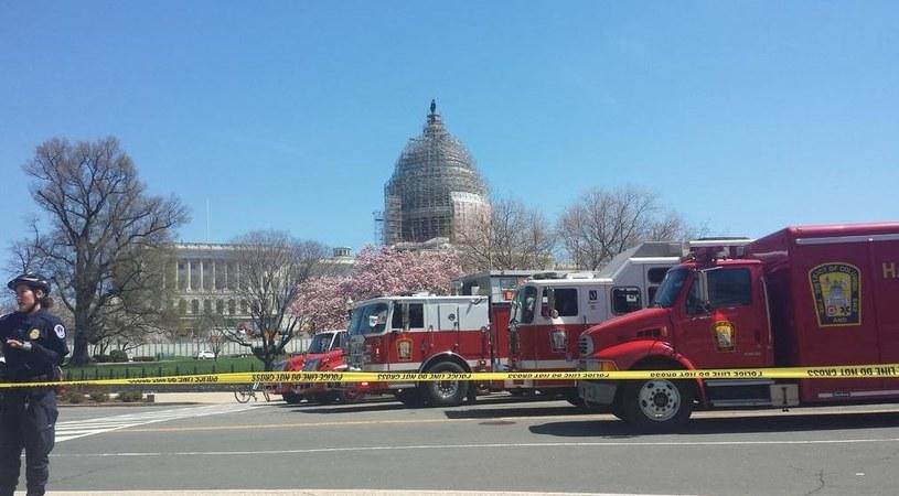 Teren wokół Kapitolu został zamknięty /Greg Brooks /Twitter