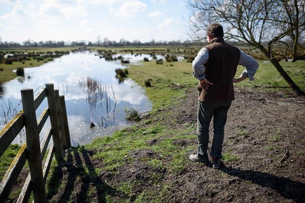 Teren zalewowy to ryzyko /AFP