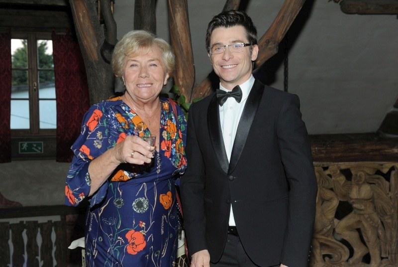 Teresa Lipowska i Kacper Kuszewski na przyjęciu z okazji jubileuszu serialu /Agencja W. Impact