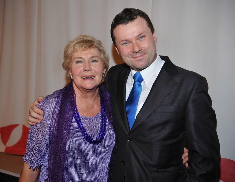 Teresa Lipowska z synem /Tricolors /East News