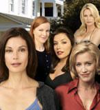 Teri Hatcher, Felicity Huffman, Eva Longoria, Marcia Cross i Nicollette Sheridan - fot. Polsat /