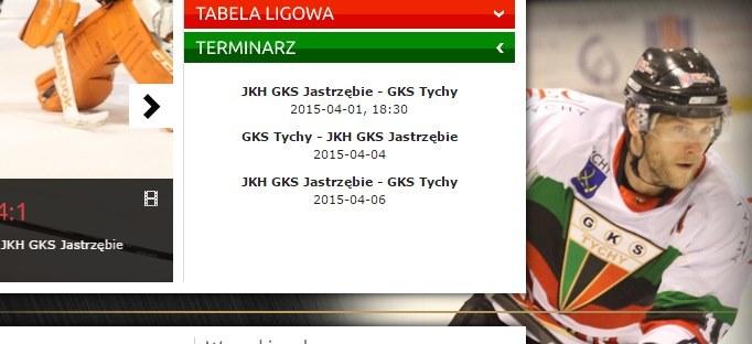 Terminarz finału PHL na oficjalnej stronie GKS-u Tychy. /INTERIA.PL