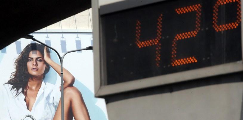 Termometry w Mediolanie pokazują ponad 40 stopni Celsjusza /PAP/EPA