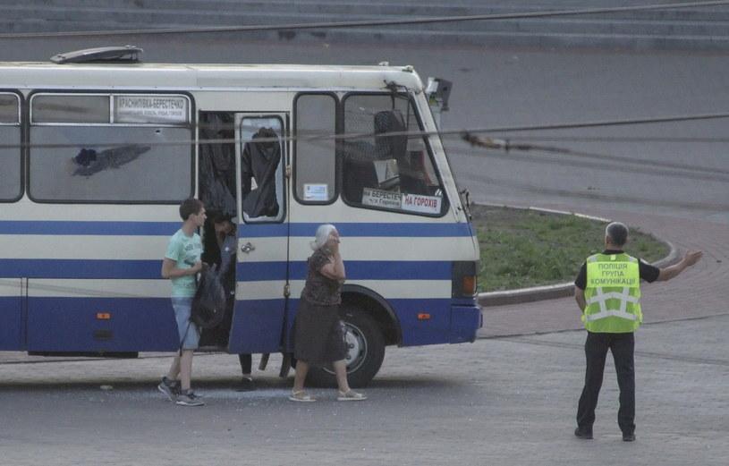 Terrorysta w Łucku się poddał i uwolniono wszystkich zakładników. /MARKIIAN LYSEIKO  /PAP/EPA