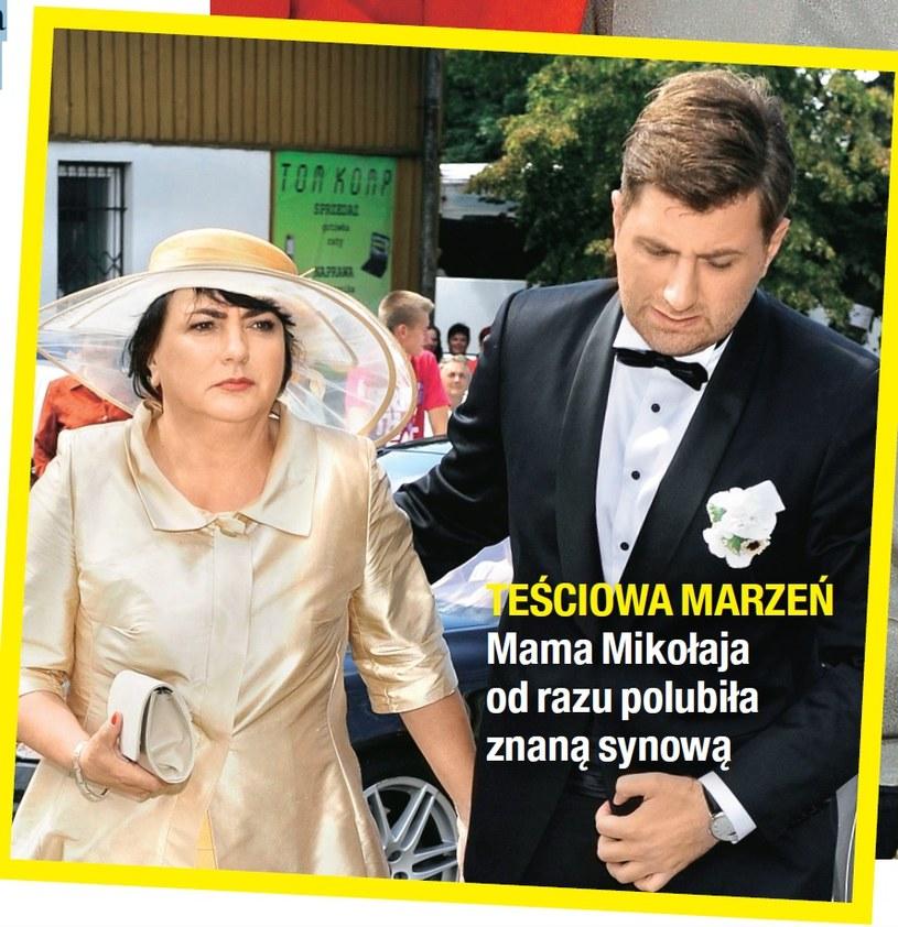 Teściowa i mąż Agnieszki /- /Na żywo