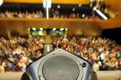 Test akustyczny w szczecińskiej filharmonii
