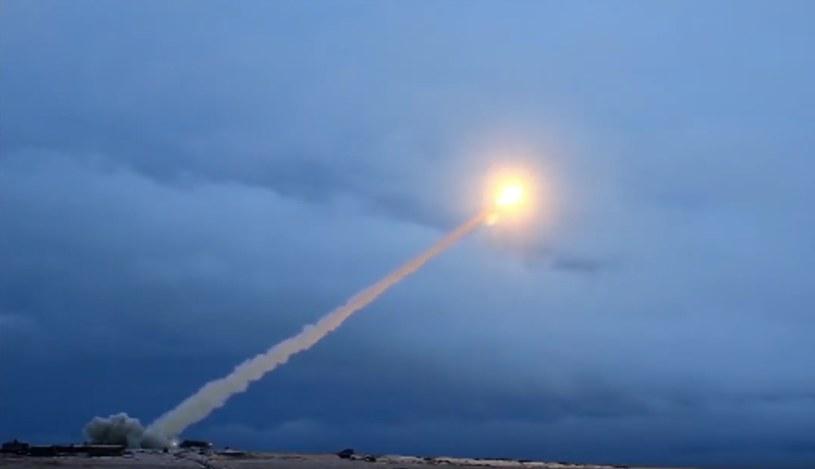 Test rakiety z napędem nuklearnym 9M730 Buriewiestnik. Kadr z wideo Ministerstwa Obrony Federacji Rosyjskiej. /SPUTNIK Russia /East News