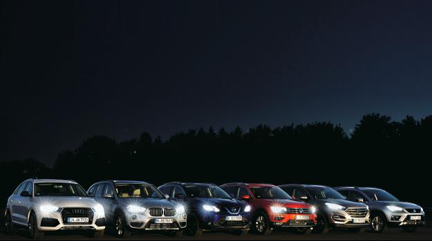 Test świateł LED /Motor