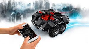 Test zdalnie sterowanego Batmobilu z Lego