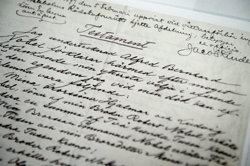 Testament Nobla po raz pierwszy udostępniony publiczności /AFP