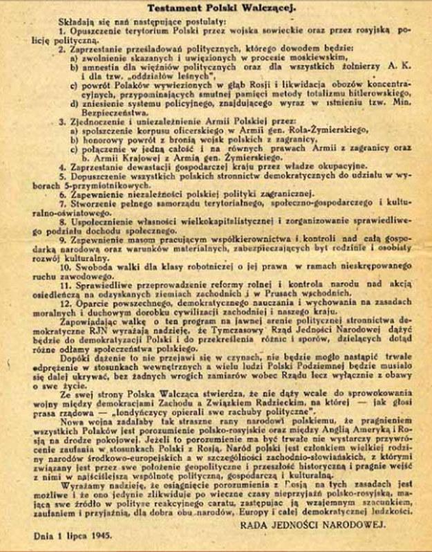 Testament Polski Walczącej /IPN