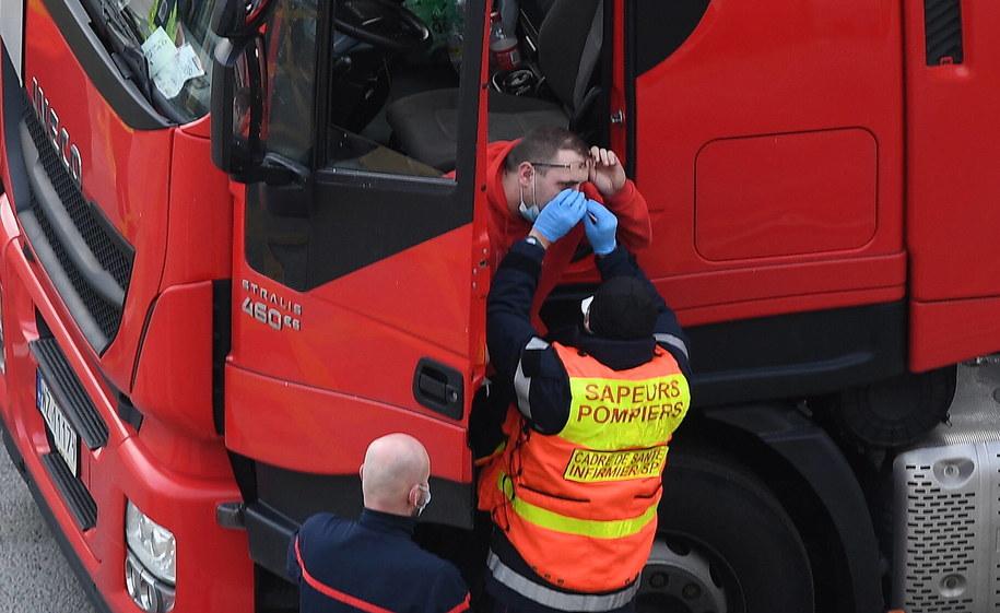 Testowanie polskich kierowców w Dover / ANDY RAIN    /PAP/EPA