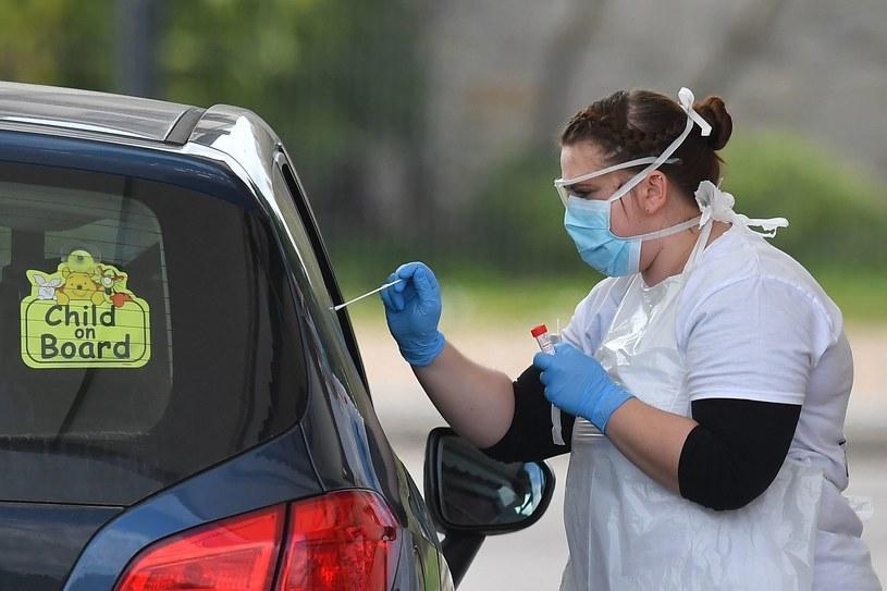 Testy na obecność koronawirusa, zdjęcie ilustracyjne /AFP
