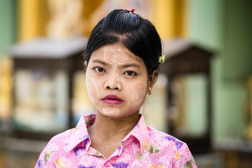 Thanaka, tradycyjny birmański makijaż /Tomasz Bogusz /materiały prasowe
