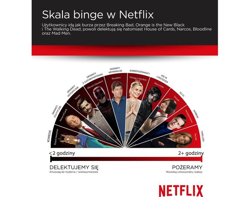 """""""The Binge Scale"""" /Netflix /materiały prasowe"""