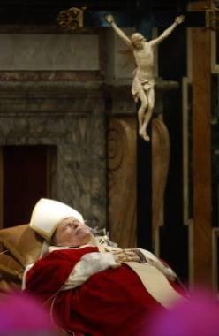 The body Pope John Paul II /AFP