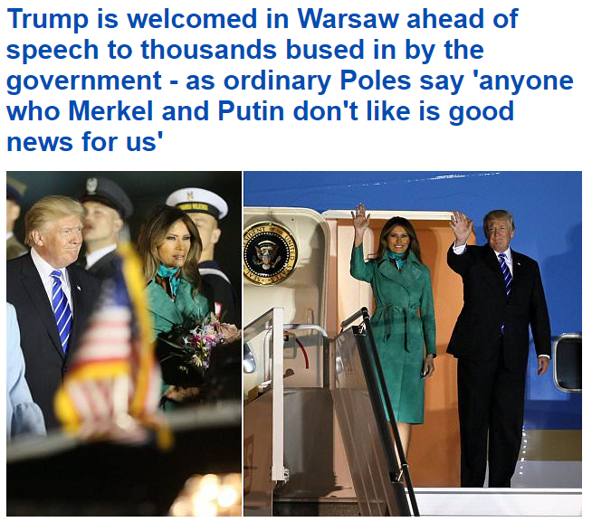 """The Daily Mail"" o wizycie Trumpa w Polsce /The Daily Mail /&nbsp"