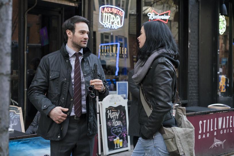 """The Defenders"": Charlie Cox (Matt Murdock/Daredevil), Krysten Ritter (Jessica Jones) /Sarah Shatz/Netflix /materiały prasowe"