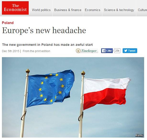 """""""The Economist"""" krytycznie o rządzie PiS /"""