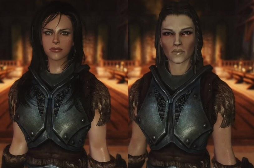 The Elder Scrolls V: Bijin Warmaidens - po prawej stronie oryginalna wersja postaci, a z lewej po liftingu /materiały prasowe